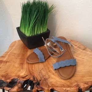 Shoes - Periwinkle sandals New with Tags